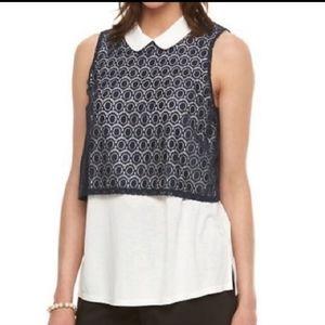 NWT Elle Sail Away sleeveless blouse